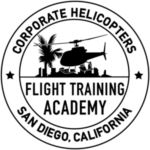 Helicopter pilot training at Corporate Helicopters Flight Training Academy in San Diego, California.